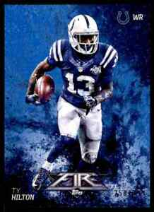 2014 TOPPS FIRE BLUE T.Y. HILTON 250/299 INDIANAPOLIS COLTS #44 PARALLEL