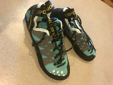 La Sportiva Tarantulace Climbing Shoes Womens Size 7.5 Black & Lime