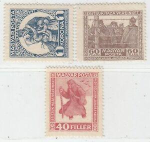 HUNGARY 1920  ISSUE FULL SET UNUSED MICHEL 312/14
