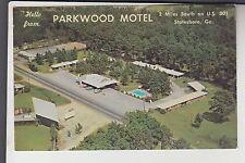Aerial View Parkwood Motel Statesboro GA Georgia