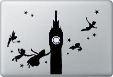 Apple Macbook air pro + peter pan + autocollant sticker décalque skin + Londres Fée