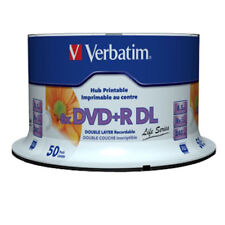 50x Verbatim DVD+R DL Double Layer Blanks 8,5 GB 8x Speed Full Printable