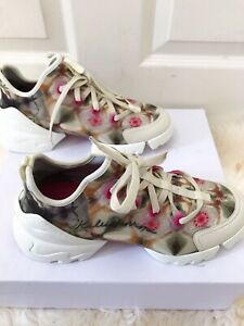 NIB DIOR D Connect Kaleidoscope Lace Up Low Top  Sneaker 38.5