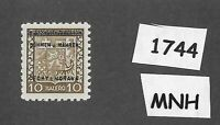 #1744  MNH 1939 Overprint stamp 10 Hal BaM Protectorate / Third Reich occupation