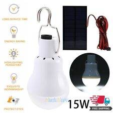 Portable Solar Powered LED Lights Bulb Outdoor Camping Yard Tent Emergency Lamp