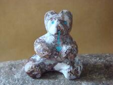 Zuni Indian Hand Carved Sitting Bear Fetish by Kenric Laiwakete FF178