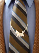 Sterling Silver Norwich Terrier Tie Chain