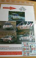 DECALS 1/18 REF 525 PEUGEOT 206 WRC KRESTA RALLYE MONTE CARLO 2003 RALLY