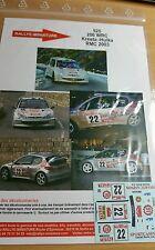 DECALS 1/24 REF 525 PEUGEOT 206 WRC KRESTA RALLYE MONTE CARLO 2003 RALLY
