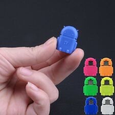 Robot Micro USB To USB 2.0 OTG Adapter Converter For Android Phone Tablet F67L