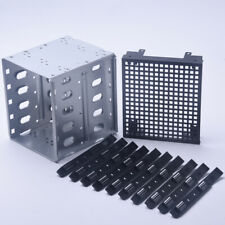 "Steel Durable Computer HDD SATA Hard Drive Cage Tray Rack 5.25"" To 5x3.5"""