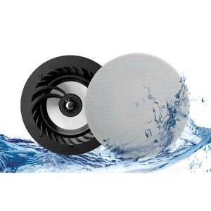 """Lithe Audio 6.5"""" 2 Way Passive IP44 Waterproof Ceiling Speakers (Pair)"""