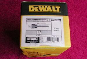 "Dewalt Hangermate (Wood PFM2261150) 3/8"" x 2 1/2"" BOX(es) OF 25 NIB"