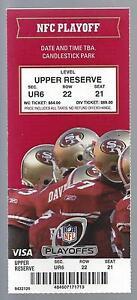 2011 NFL SAINTS @ 49ERS FULL UNUSED PLAYOFF FOOTBALL TICKET - BREES TIES RECORD