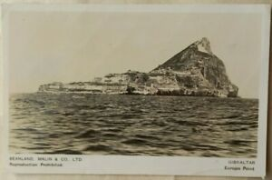 GIBRALTAR 1947 BEANLAND MALIN & Co PICTURE POST CARD SENT AIRMAIL TO IRELAND