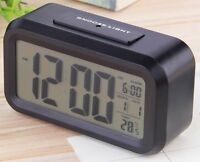 Digital Backlight LED Display Table Alarm Clock With Calendar+Thermometer-