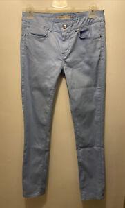 Karen Millen Powder Blue Shimmer Detail Jeans UK Size 12