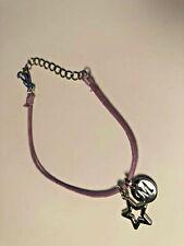 American Girl McKenna Accessories Purple Necklace Silver Star M Charm Jewelry