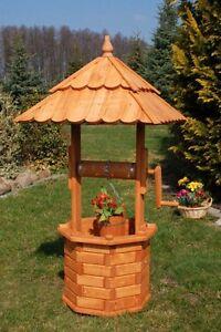 Fontaines Décoratives de Bois Puit Jardin Imprégnés 1,20 M Massif,