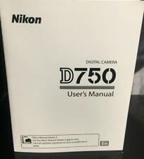 Nikon D750 Dslr Camera User's Manual