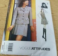 Vogue Attitudes Pattern 1702 - Anna Sui - 14-16-18 cut missing pattern instructi
