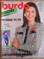 BURDA n°4 1991 Inverno 1991-92 con Cartamodelli   [M6]