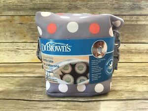 Dr. Brown's Insulated Baby Bottle Tote Bag Convertible - Gray Polka Dot - Unisex