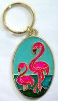 PINK FLAMINGO  Key Ring Keychain Key Chain NEW Great gift!