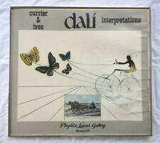 Large Vintage SALVADOR DALI Butterflies Carriage Exhibition Poster. Litho 1977