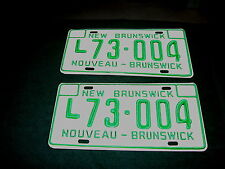 PAIR OF UNUSED NEW BRUNSWICK CANADA LICENSE PLATES 1970's GREAT COND!