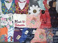 NWT Girls Summer Clothes Lot Size Small 7 7/8 Tops Shorts Dress Outfits Sets