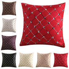 "17"" Luxury Cushion Cover Throw Pillow Case Rhombus Polyester Cotton Seat Decor"