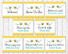 Bumble Bee Baby Shower Table Signs - 8 Printable Signs