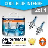 H4 Osram Cool Blue Intense PEUGEOT 107 05- Headlight Bulbs Headlamp H4 Pack of 2