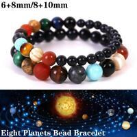 Eight Planets Bead Bracelet Natural Stone Universe Yoga Chakra Solar Bracelet SO