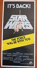 STAR WARS (1977) Original Australian Daybill Movie Poster R81 George Lucas