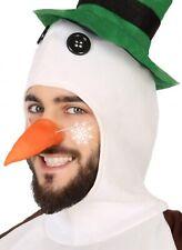 Herren Damen Schneemann Karotte Nase Winter Weihnachten Kostüm Zubehör
