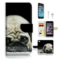 ( For iPhone 7 ) Wallet Case Cover P3439 Cute Bull Dog