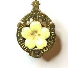 Antique gilt Primrose League Conservative Political Badge Late Victorian
