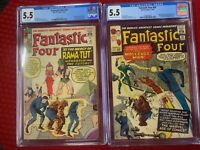 Fantastic Four 19 & 20 - (CGC Graded) 1st appearances of Rama-Tut & Molecule Man