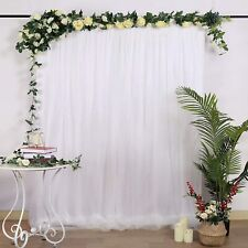 White 10 x 10 ft Voile BACKDROP CURTAIN 1 Panel 10' x 10' Party Wedding Decor