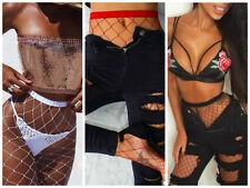 BLACK/RED/WHITE Women Ladies Fishnet Tights Burlesque Hoise Pantyhose Stocking