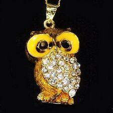 USB Stick 4 GB Anhänger Strass Schmuck Eule Uhu Kauz Owl Hibou gold-farbig gelb