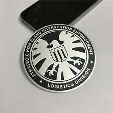 Car Motorcycle Aluminium Alloy S.H.I.E.L.D. Emblem Badge Decal Sticker Universal