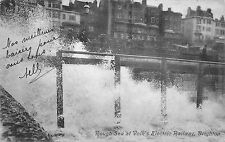 BR63050 rough sea at volk s electric railway brighton   uk
