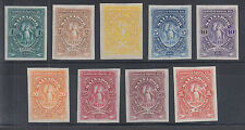 Salvador Sc 38-46 MNG. 1890 definitives, imperf Proofs in issued colors cplt set