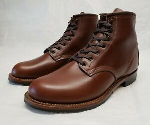 Red Wing 9063 Flatbox TEAK Featherstone Leather Soft Toe 9060 Heritage Boots 7.5