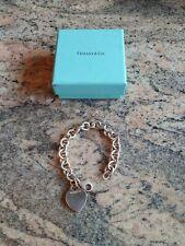 Vintage  Tiffany & Co Silver 925 Heart Tag Bracelet  100% Genuine