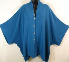 TIENDA HO~SEA BLUE~MOROCCAN COTTON~Danielle TOP~QUILTED~Poncho/Cape~OS(3x+?)