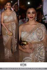 Net Designer Sari Saree Blouse Party Wear Women Lehenga Indian Pakistani Woman